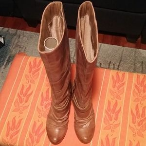 Kessica Simpson Brown Leather Boots